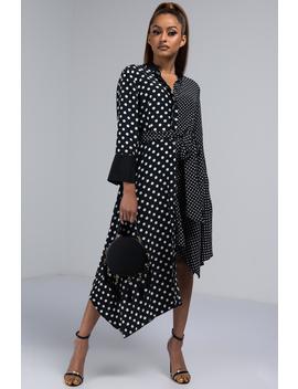 One At A Time Polka Dot Midi Dress by Akira