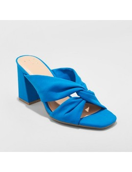Women's Adina Block Heel Pumps   A New Day™ Blue by Shop All A New Day™