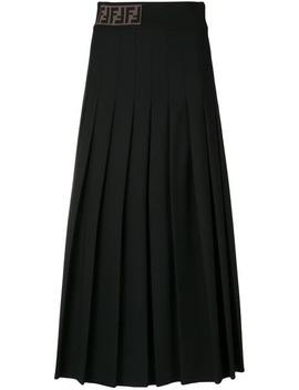 Fendipleated Midi Skirthome Women Fendi Clothing Pleated Skirtsblue Mini Leather Box Bagpleated Midi Skirt by Fendi