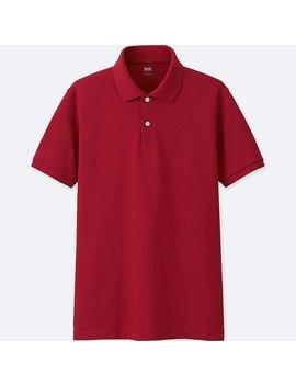 Droog Pique Polo Overhemd Met Korte Mouwen by Uniqlo