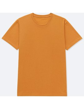 Men Packaged Dry Crew Neck Short Sleeve T Shirt by Uniqlo