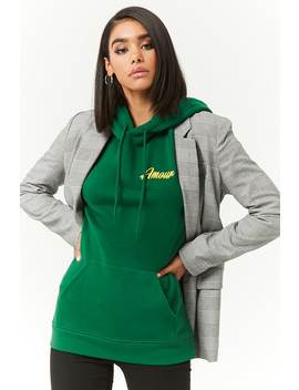 Amour Hoodie Sweatshirt by Forever 21