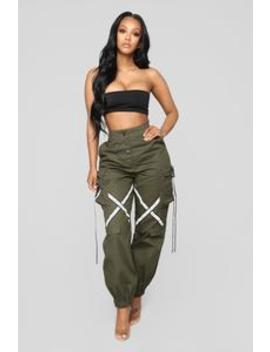 Sayra Cargo Joggers   Olive by Fashion Nova