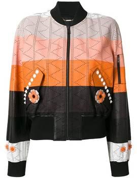 Fendipanel Bomber Jackethome Women Fendi Clothing Leather Jacketsmink Fur Panel Sweaterpanel Bomber Jacket by Fendi