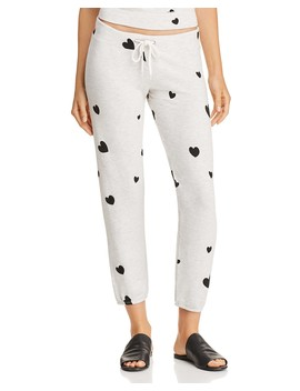 Heart Print Sweatpants by Monrow