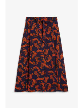 Long Printed Skirt by Monki