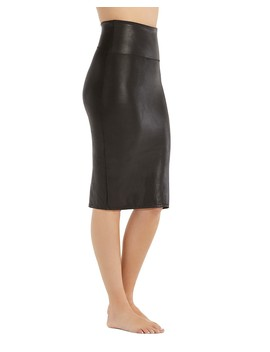 Faux Leather Pencil Skirt by Spanx®
