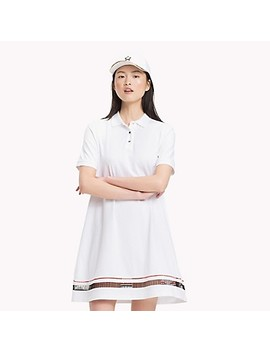 Embroidered Trim Polo Dress by Tommy Hilfiger