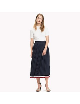 Pleated Midi Skirt by Tommy Hilfiger