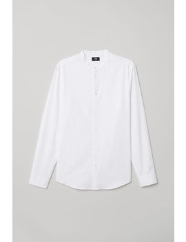 Grandad Shirt Slim Fit by H&M