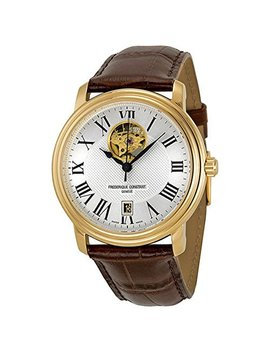 Frédérique Constant Round Yellow Gold Plated Persuasion Heart Beat Date Men's Watch. Made In Switzerland by Frederique Constant