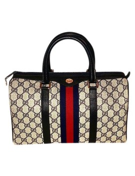 Boston Vintage Signature Web Satchel by Gucci