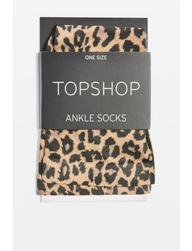 Leopard Print Socks by Topshop