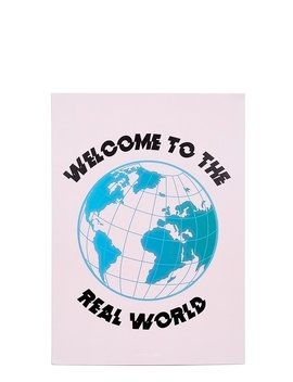 Welcome To The Real World A4 Wall Print by Skinnydip