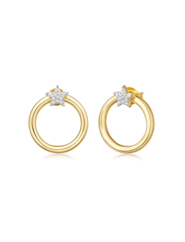 Mini Pave Star Front Facing Hoops by Missoma