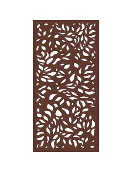 6 Ft. X 3 Ft. Espresso Brown Modinex Decorative Composite Fence Panel In The Botanical Design by Home Depot