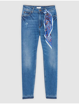 High Waisted Jeans With Insert by Sandro Eshop