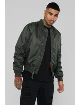 Ken Bomber Jacket   Olive by Fashion Nova