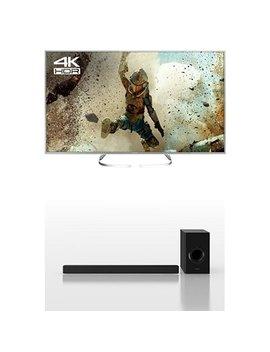 Panasonic Tx 58 Ex700 B 58 Inch 4 K Ultra Hd Smart Led Tv With Sc Htb488 Ebk 200 W Soundbar With Wireless Sub Woofer Bundle by Panasonic