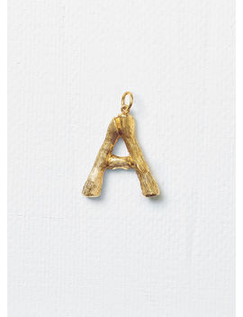 """Alphabet """"A"""" Large Pendant In Brass With Gold Finish by Celine"""
