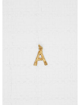 """Alphabet """"A"""" Mini Pendant In Brass With Gold Finish by Celine"""