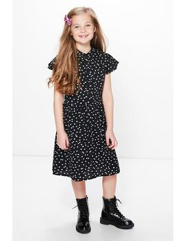 Girls Polka Dot Shirt Dress by Boohoo
