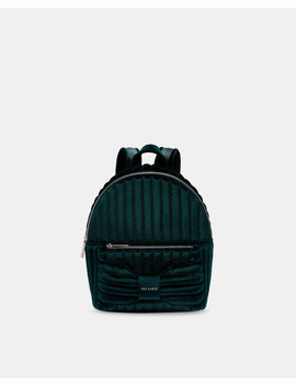 Velvet Bow Backpack by Ted Baker