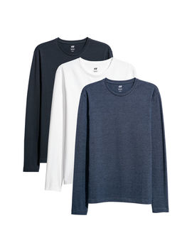 3 Pack Tröjor Slim Fit by H&M