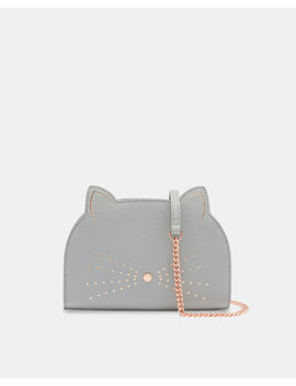 Cross Body Leather Cat Bag by Ted Baker