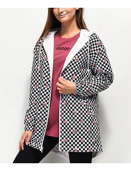 Vans Mercy Pink & Checkered Reversible Rain Jacket by Vans