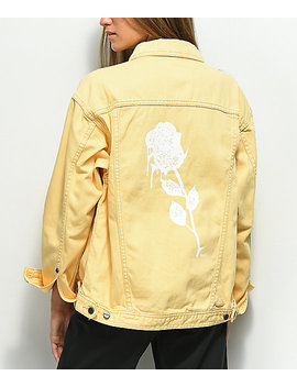 Obey Perry Street Rose Yellow Denim Jacket by Obey