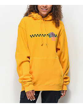 Odd Future Checkered Rose Gold Hoodie by Odd Future