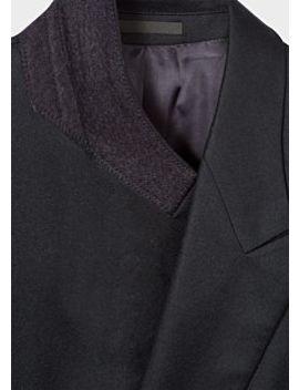 Men's Black Double Breasted Wool Blazer by Paul Smith