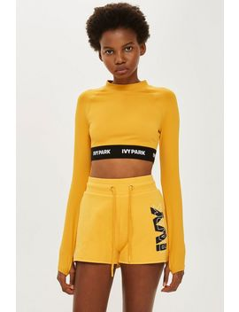 Long Sleve Logo Tape Crop Top By Ivy Park by Topshop