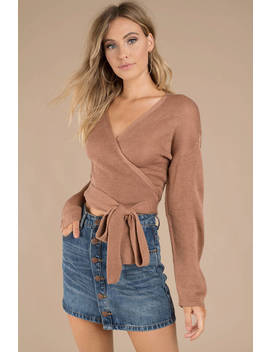 Just For You Sienna Wrap Sweater by Tobi