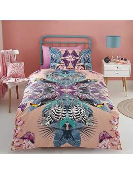 Mirror Zebra Duvet Cover And Pillowcase Set by Dunelm