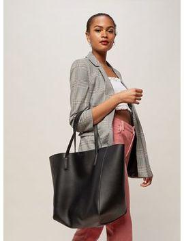 Miss Selfridge   Black Oversized Unlined Tote Bag by Miss Selfridge