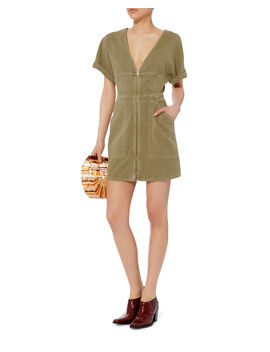 Novak Cotton Twill Zip Dress by A.L.C.