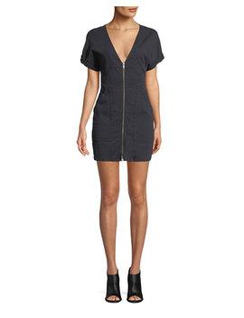 Novak Zip Front Mini Dress by A.L.C.