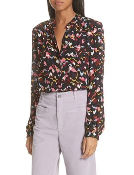 Owens Floral Silk Top by A.L.C.