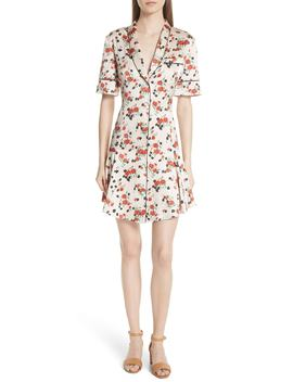 Ruthie Floral Print Stretch Silk Dress by A.L.C.