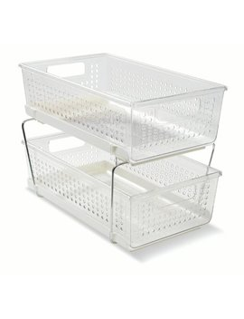 Madesmart Cabinet Storage Basket With 2 Levels And White Base by Madesmart