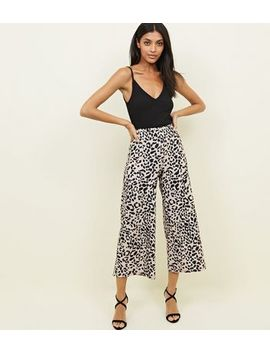 Brown Animal Print Culottes by New Look