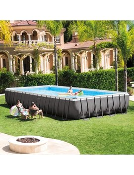 """Intex 32' X 16' X 52"""" Rectangular Ultra Frame Above Ground Pool With Sand Filter Pump by Intex"""