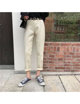 Plain Cropped Slim Fit Pants by Moon City