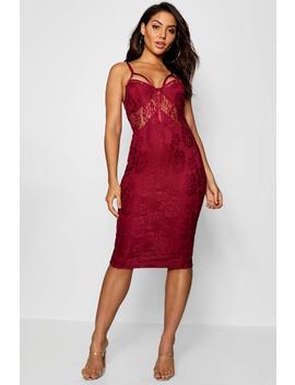 Lace Harness Midi Dress by Boohoo