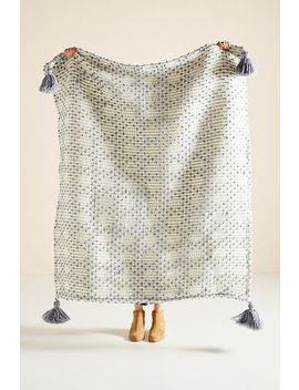 Textured Bobble Throw Blanket by Anthropologie