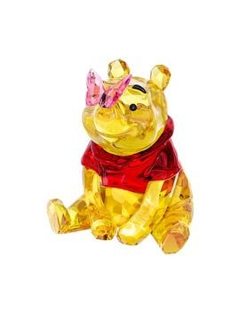 Winnie The Pooh With Butterfly by Swarovski Crystal