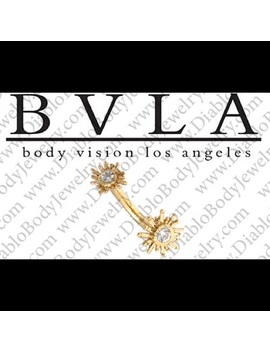 Custom Bvla White Gold Sunshine Curved Barbell by Bvla