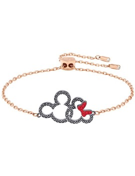 Mickey &Amp; Minnie Bracelet, Multi Colored, Mixed Plating by Swarovski Crystal